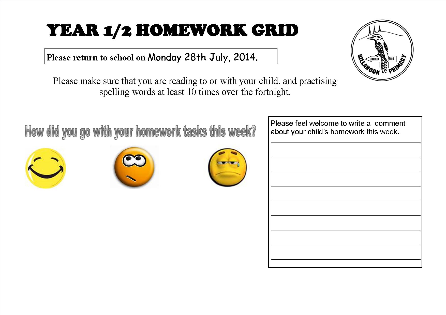 primary homework